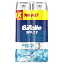 Gillette Series Sensitive Cool Shaving Foam For Men 2x250ml