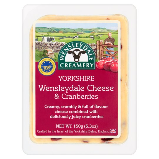 Wensleydale Creamery Yorkshire Wensleydale & Cranberries Semi-Fat Hard Cheese with Cranberry 150 g