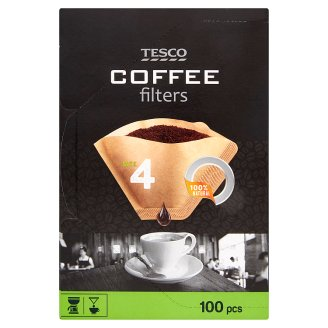 Tesco Coffee Filters Size 4 100 pcs