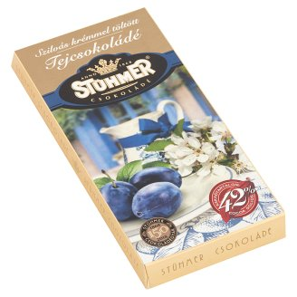 Stühmer Milk Chocolate Filled with Plum Cream 100 g