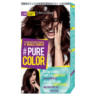 Schwarzkopf #Pure Color Permanent Hair Colorant 3.68 Dark Cherry