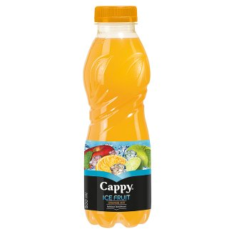 Cappy Ice Fruit Orange Mix Non-Carbonated Mixed Fruit Drink with Cactus Flavour 500 ml