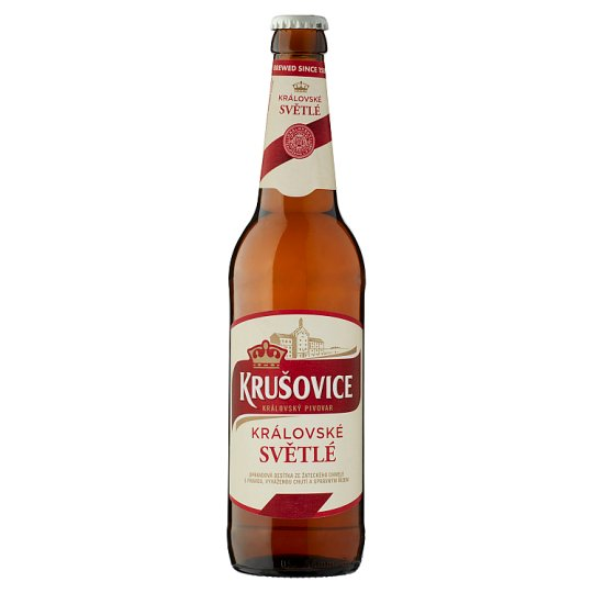Krušovice Světlé eredeti cseh import világos sör 4,2% 0,5 l üveg