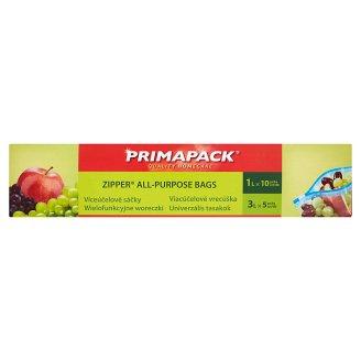Primapack Zipper All-Purpose Bags 1 l 10 pcs + 3 l 5 pcs