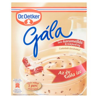 Dr. Oetker Gála Salty-Caramel Cream Pudding Powder with Chocolate Pieces 89 g