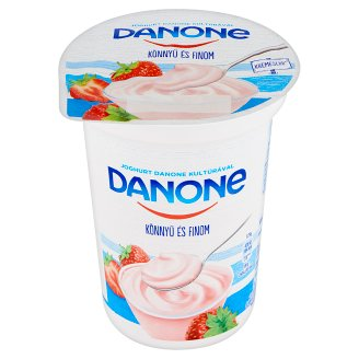Danone Strawberry Flavoured Low-Fat Yoghurt with Live Cultures 400 g