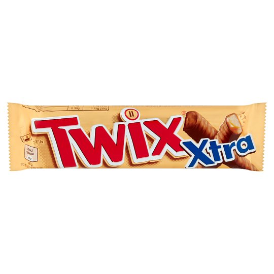 Twix Xtra Biscuit Bars with Caramel, Dipped in Milk Chocolate 2 pcs 75 g