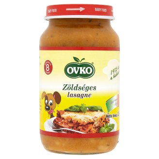 Ovko Lasagna with Vegetables Baby Food Containing Gluten 8+ Months 220 g