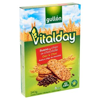 Gullón Vitalday Oat Biscuits with Chocolate Pieces 240 g