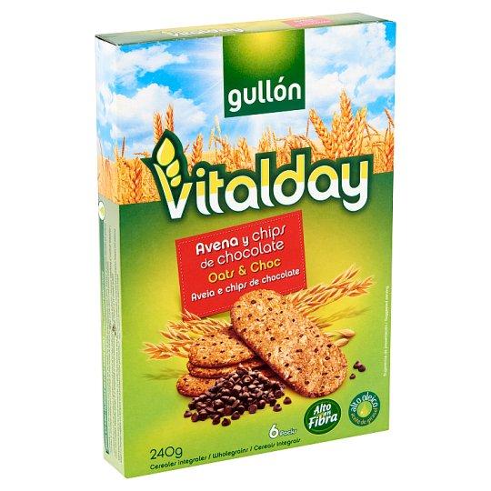 Gullón Vitalday zabpelyhes keksz csokoládé darabokkal 240 g