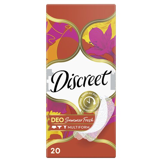 Discreet Breathable Multiform Summer Fresh Panty Liners 20X