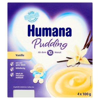 Humana vanília ízű puding 10 hónapos kortól 4 x 100 g