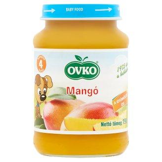Ovko glutén- és tejszármazékmentes mangó bébidesszert 4 hónapos kortól 190 g