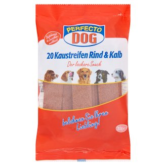 Perfecto Dog Complementary Meat Stripes with Beef and Veal for Dogs 200 g
