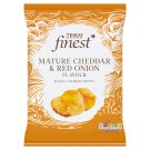 Tesco Finest Mature Cheddar & Red Onion Hand Cooked Potato Chips 150 g