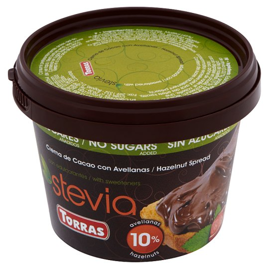 Torras Stevia Hazelnut Spread without Added Sugar, with Sweeteners 200 g
