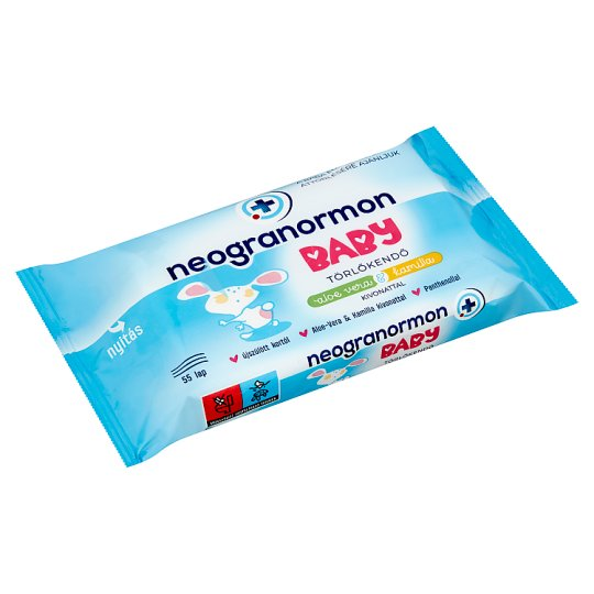 Neogranormon Baby Wipes with Aloe Vera & Chamomile Extract 55 pcs
