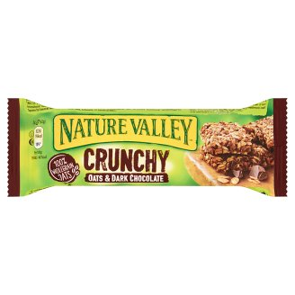 Nature Valley Crunchy Cereal Bars Made with Whole Grain Rolled Oats and Dark Chocolate Pieces 42 g