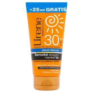 Lirene barnulást elősegítő napvédő tej SPF 30 175 ml