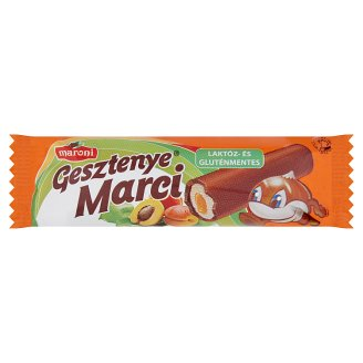 Maroni Gesztenye Marci Lactose- and Gluten-Free Chestnut Bars with Peach Jam Filling 30 g