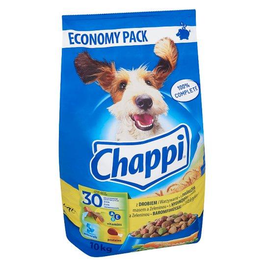 Chappi teljes értékű állateledel felnőtt kutyák számára baromfihússal és zöldségekkel 10 kg