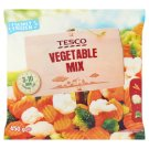 Tesco gyorsfagyasztott sárgarépa, karfiol és brokkoli keveréke 450 g