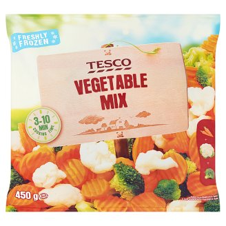 Tesco Quick-Frozen Vegetable Mix 450 g