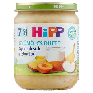 HiPP Gyümölcs Duett BIO gluténmentes joghurt gyümölcsökkel 7 hónapos kortól 160 g