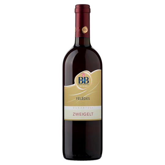 BB Dunántúli Zweigelt félédes vörösbor 0,75 l