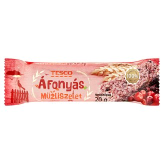 Tesco Cranberry Muesli Bar 20 g