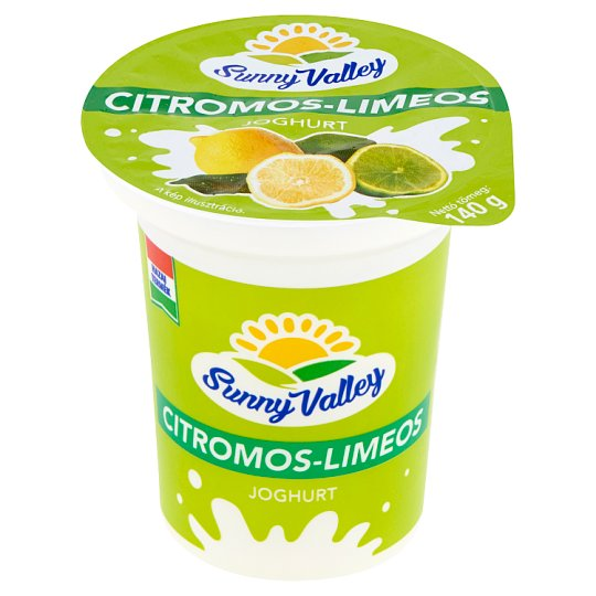 Sunny Valley Low-Fat Lemon-Lime Yoghurt with Live Cultures 140 g