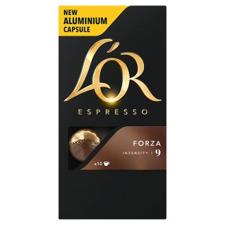 L'OR Espresso Forza Ground-Roasted Coffee in Capsules 10 pcs 52 g