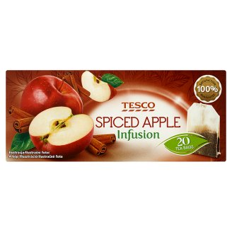 Tesco Spiced Apple Infusion Apple-Cinnamon Fruit Tea 20 Tea Bags 40 g