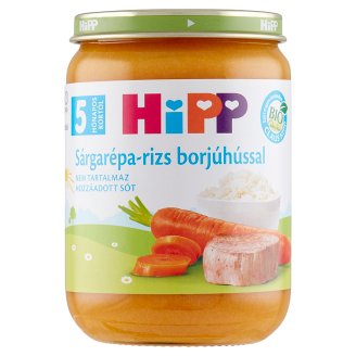 HiPP Organic Gluten- and Dairy-Free Carrot-Rice with Veal Baby Food 5+ Months 190 g