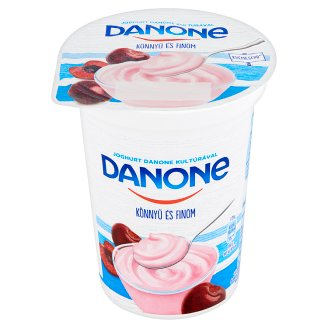 Danone Sour Cherry Flavoured Low-Fat Yoghurt with Live Cultures 400 g