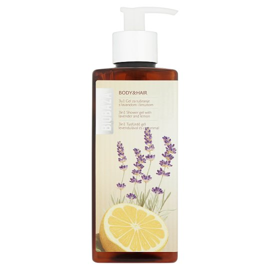 Biobaza 3 in 1 Shower Gel with Lavender and Lemon 400 ml