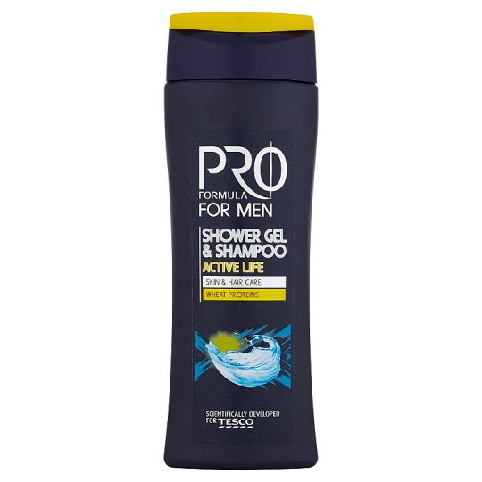 Tesco Pro Formula for Men Active Life Shower Gel & Shampoo 250 ml