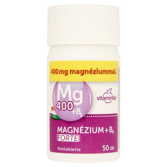 Vitamintár Mangézium Forte 400 mg filmtabletta 50 db 62,5 g