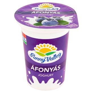 Sunny Valley élőflórás, zsírszegény áfonyás joghurt 375 g