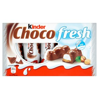 Kinder Chocofresh Chocolate with Milky and Hazelnut Filling 5 x 21 g