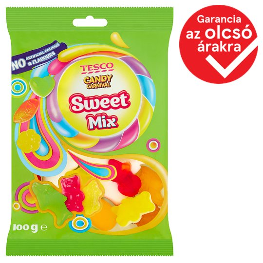 Tesco Candy Carnival Sweet Mix Fruit Flavoured Gummy Candy 100 g