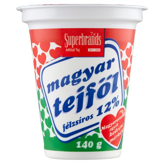 Magyar Tejföl 12%-os félzsíros tejföl 140 g