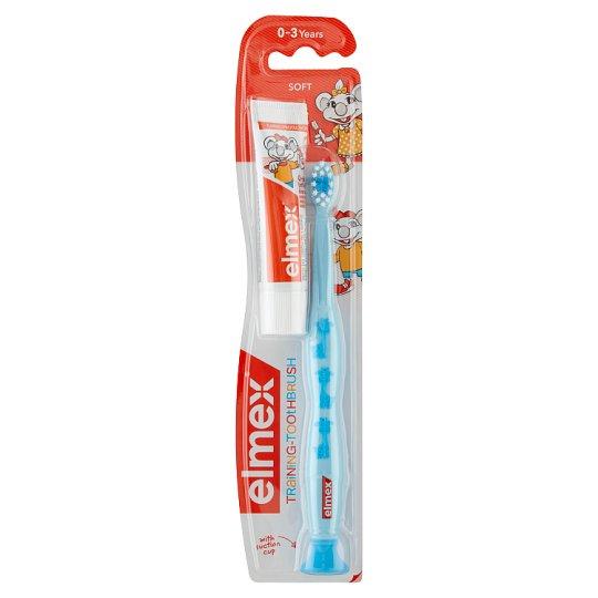 elmex gyakorló fogkefe és gyermekfogkrém 0-3 éveseknek