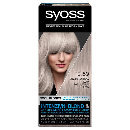 Syoss 12-59 Cold Platinum Blonde Permanent Hair Colorant