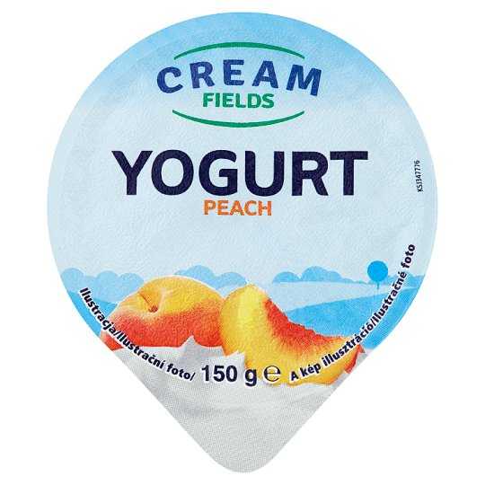 Cream Fields Low-Fat Peach Flavoured Yoghurt with Live Cultures 150 g