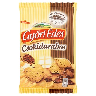 Győri Édes Friable Biscuits with Honey and Chocolate Pieces 150 g