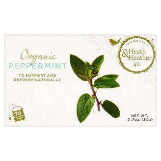 Heath & Heather Organic Peppermint Tea 20 Tea Bags 20 g