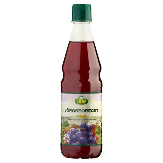 Chef Red Vine Vinegar 6% 0,5 l