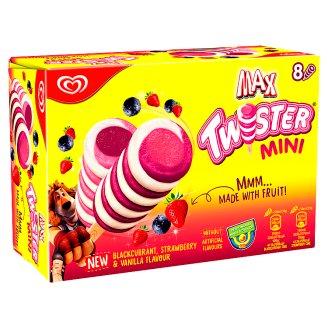 Max Twister Mini vanília jégkrém eper-citrom és feketeribizli ízű vizes jégkrémmel 8 db 400 ml
