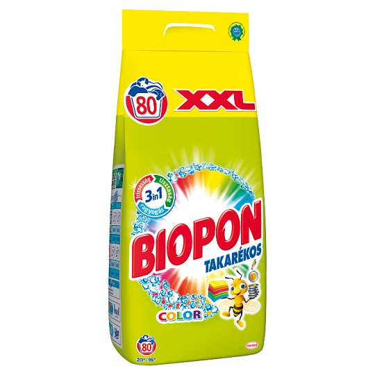 Biopon Takarékos Color Powder Detergent for Color Clothes 80 Washes 5,6 kg